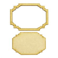 Frame and Panel 15 - Wooden 3mm MDF Laser Cut Craft Blank Scrapbook Topper